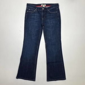White House Black Market Bootcut Jeans Embroidered